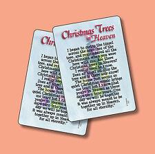 """""""Christmas Trees In Heaven"""" Poem - 2 Verse Cards - sku# 707"""