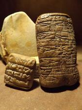 Sumerian Cuneiform tablets - Ancient writing of  Mesopotamia - replica set