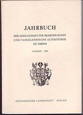Emder Jahrbuch1969 Emden  Ostfriesland  Band 49