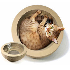 Bowl-style Cat Toy Scratching Corrugated Board Scratcher Bed Pad with Catnip