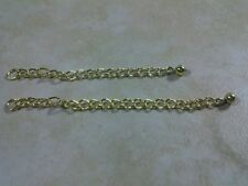 "Extender Chain 2 & 3"" New Gold Plated For Necklace Bracelet Anklet Set of 2"