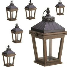 6 Rustic Wood Lantern Large Candle Holder Wedding Centerpieces
