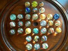 COLLECTION RARE ANTIQUE VINTAGE COLLECTABLE HAND BLOWN GLASS MARBLES