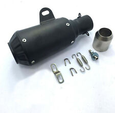 Black Motorcycle Street Bike Modified GP Race Shorty Exhaust Muffler Pipe System