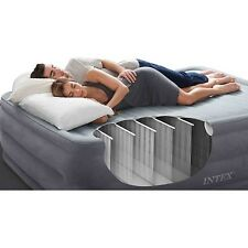 "Intex 22"" DuraBeam Airbed Sleeping Mattress w Built-in Pump Guest Air Bed FULL"