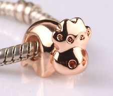 NEW 1pcs cows rose gold big hole spacer beads fit Charm European Bracelet BS521