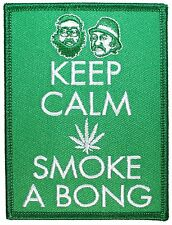 """Keep Calm, Smoke a Bong"" Cheech & Chong Marijuana Weed Iron On Applique Patch"