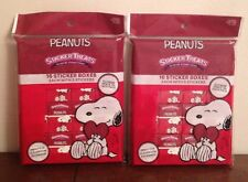 LOT of 2 Peanuts Snoopy Treats 16 Sticker Boxes Each Party Favors Classroom