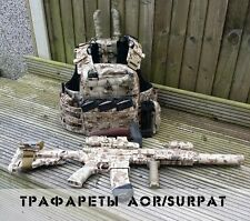 "Russian Original Camo Weapon Stencils Set AOR / SURPAT by ""Chameleon"" NEW"