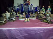 OWL COLLECTION 1980's . VINTAGE PORCELAIN HOMCO ( # 1114 & 1298 & MORE MFG. ) TO