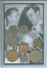 Birmingham City Vintage League Cup Final Winners Retro Coin Gift Fan Set 1963