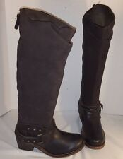 NEW ANTHROPOLOGIE GEE WAWA BLACK ON BROWN  SUEDE & LEATHER WESTERN  BOOTS US 6
