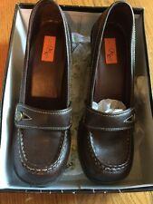 JAZZBERRY Brand New Dark Brown Slides Wedges Loafers Mary Janes High Heels Sz 10