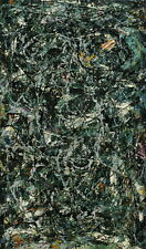 Jackson Pollock Full Fathom Five Canvas Print Paintings Poster Reproduction Copy