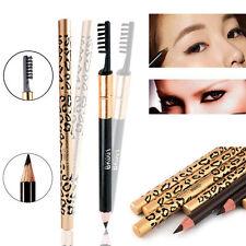 Waterproof Makeup Leopard Longlasting Brown Eyeliner Eyebrow Pencil With Brush