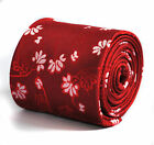Red and White Floral Handmade Mens Tie by Frederick Thomas RRP £19.99 FT221