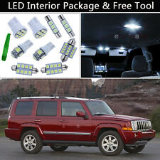 14PCS White LED Interior Car Lights Package kit Fit 2006-2010 Jeep Commander J1