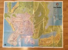 Grand Theft Auto V (GTA 5) Los Santos & Blaine Country Double Face Map Xbox 360