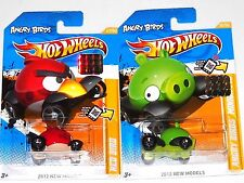 2012 HOT WHEELS FACTORY SET NEW MODELS ANGRY BIRDS RED BIRD & MINION PIG