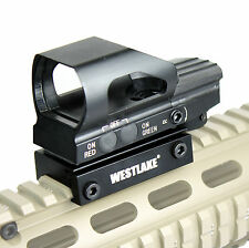 Tactical Sight Holographic Relex Scope - Red Green 4 Reticle Rail Mount - HD104