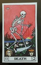 Death skeleton playing card Sticker tablet laptop guitar 085
