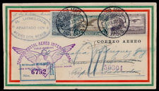 uv60 Mexico 1st International Registered Flight Cover Mex   Salvador  1Jun1930