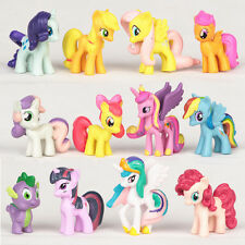 12pcs My Little Pony Toppers Para Tarta Dibujos Animados Figuras De Acción