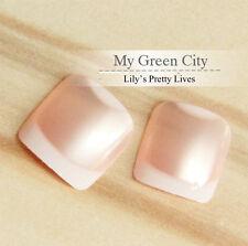 24pcs Jewelry Color Design Short Square Sculpt Full False Toe Nails