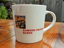 2005 STARBUCKS  COFFEE MUG Komodo Dragon Asia blend cream red EUC collectible