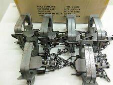 6 Duke # 4 Four Coil Spring Traps  Beaver Bobcat Coyote Lynx Trapping 0502