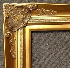 """4"""" Gold Leaf Wood Antique Picture Frame photo art wedding gallery 16x20 B9G"""