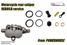 Triumph Tiger 955i rear brake caliper rebuild service 2004-2006