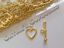 **SALE** 25 x Tibetan Gold Plated HEART Toggle Clasps 14mm x 12mm - Jewellery