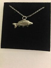 Common Carp PP-F11 English Pewter on a Silver Platinum Plated Necklace 18""