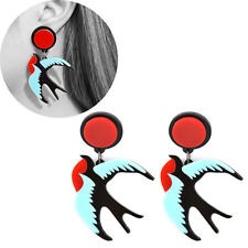 Acrylic Flying Bird Swallow Stud Earrings Pendant Drop Women Fashion Jewelry