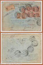 ITALIA REGNO - STORIA POSTALE: Bellissima BUSTA RACCOMANDATA a EGYPT 1923