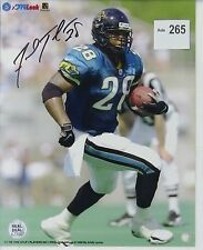 Fred Taylor Original Autographed Color Photograph NFL Authenticated Pro Look