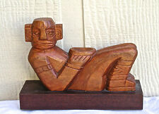 Jose Pinal Signed Wood Carving of Reclining Figure