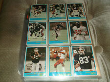 1987 JOGO CFL SET (110) CANADIAN FOOTBALL LEAGUE LIMITED  600