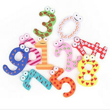 1Set 10pcs Number 1-10 Wooden Alphabet Fridge Magnet Kids Child Educational Toy