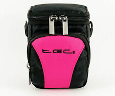 TGC Hot Pink & Black Case 4 Compact Minox Cameras + Belt Loop + Foam Padding