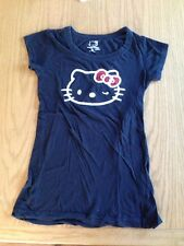 Bling! Japan Sanrio HELLO KITTY Girl Black T-shirt W/ Bling 3D Bow M