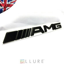 AMG MATT BLACK REAR EMBLEM BADGE MERCEDES BENZ A B C E S CL SL ML CLK CLS SLK