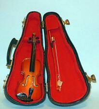 "CELLO WITH CASE 5 1/8"" DOLLHOUSE FURNITURE MINIATURES"