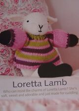 TOY LAMB TO KNIT ~ WITH DRESS  ~ KNITTING PATTERN ~ 28cm TALL