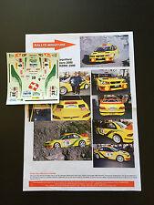 DECALS 1/32 SUBARU IMPREZA WRC JACQUILLARD RALLYE CHARBONNIERES 2000 SLOT RALLY