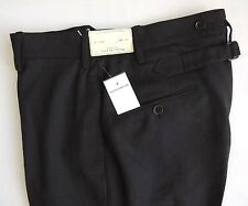 $590 Double RL RRL Ralph Lauren Buckleback Italy Wool Pinstripe Dress Pants 32