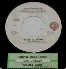John Anderson 45 Tokyo, Oklahoma / Willie's Gone  w/ts