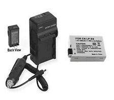 Battery + Charger for Canon LP-E8 LPE8 KISS X4 T21 T3i