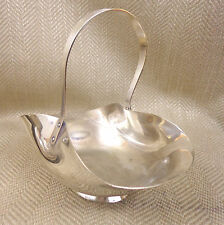 Antique Basket Bowl Dish Silver Plated Nut Candy Sweet Simple Victorian Vintage